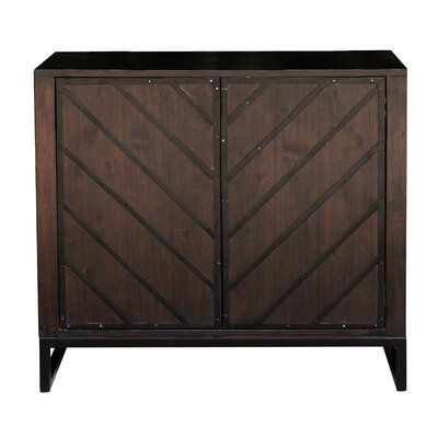 Leonia 2 Door Accent Cabinet Color: Brown