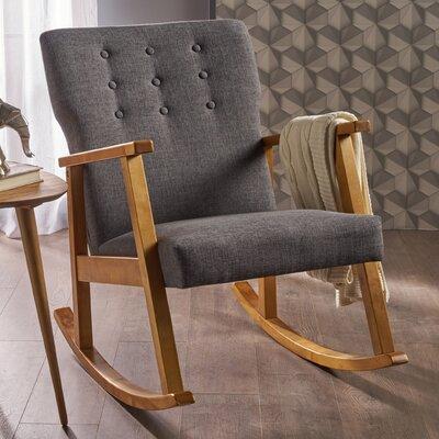 Welborn Rocking Chair Fabric: Gray