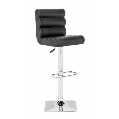 Binjai Adjustable Height Bar Stool Seat Color: Black