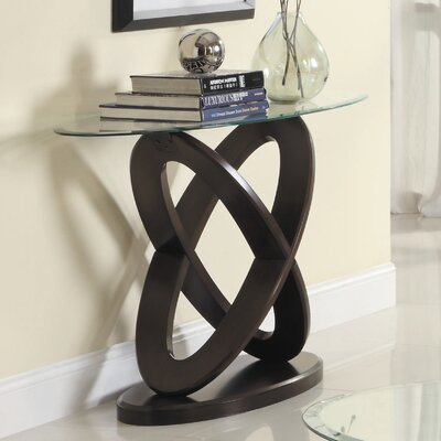 Angello Console Table Color: Cherry
