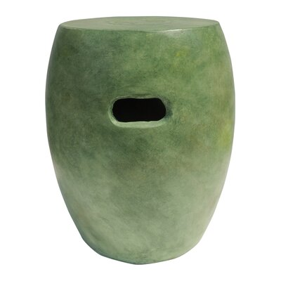 Salinas Clay Garden Stool Finish: Verdigris Green