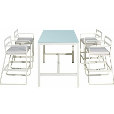 George 5 Piece Bar Height Dining Set