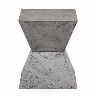 Trefann Concrete Square Stool