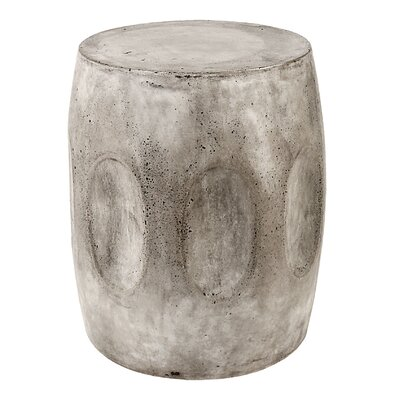 Aria Waxed Concrete Stool