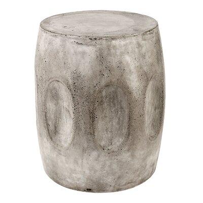 Aria Waxed Concrete Stool