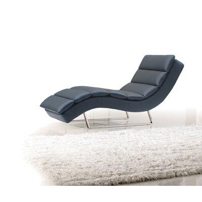 Coalpit Heath Chaise Lounge Upholstery: Black