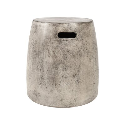 Arias Waxed Concrete Stool