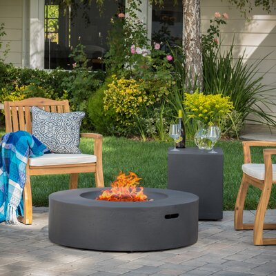 Olivet Propane Fire Pit Table Finish: Dark Grey
