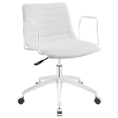 Lynch High-Back Desk Chair Upholstery: White