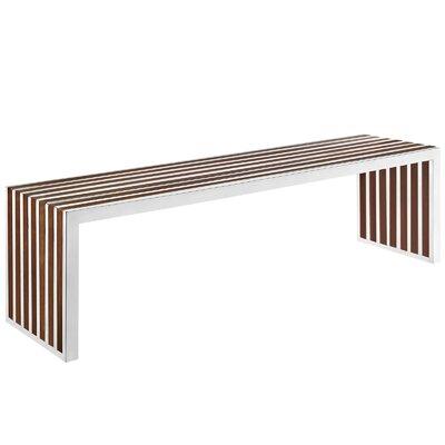 "Gunnar Wood Bench Size: 16.5"" H x 60"" W x 15"" D"