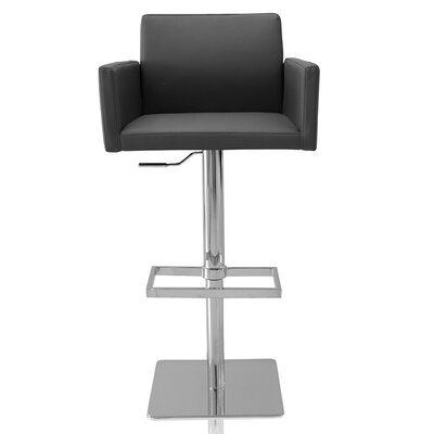 Tuller Adjustable Height Swivel Bar Stool Color: Gray