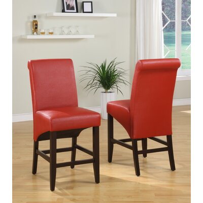 "Coombe Dingle 25"" Bar Stool Upholstery: Ruby"
