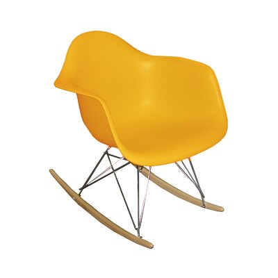Altarichard Rocking Chair Frame Color: Yellow
