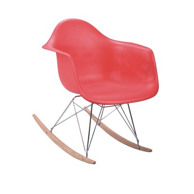 Altarichard Rocking Chair Frame Color: Red
