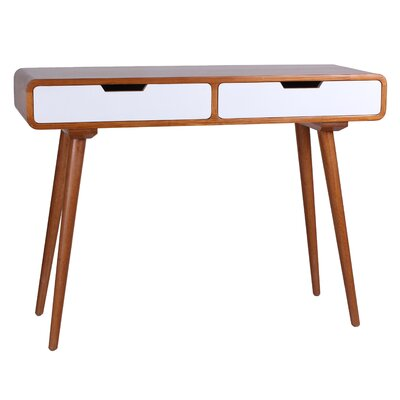 Daly Console Table Color: White