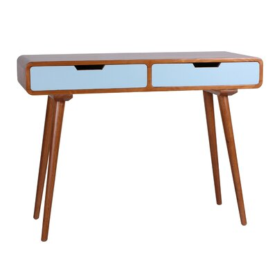Daly Console Table Color: Aqua