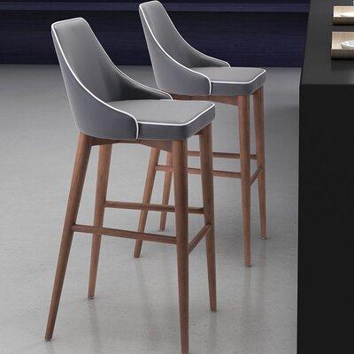 "West Covina 29.9"" Bar Stool Upholstery: Dark Gray"