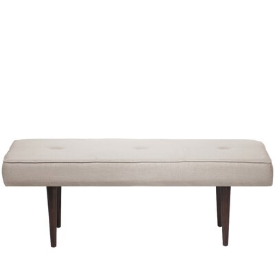 Aldgate Tufted Polyester Upholstered Bench Color: Talc