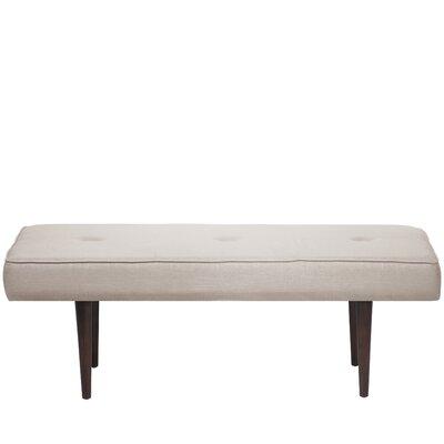 Aldgate Tufted Polyester Upholstered Bench Color: Talc