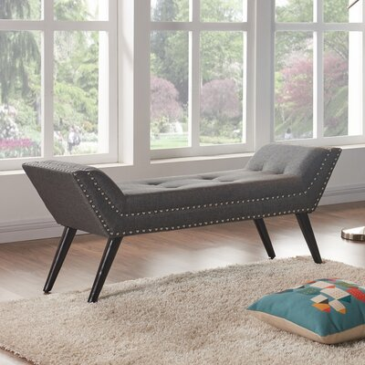 Clift Upholstered Bench Upholstery Color: Charcoal