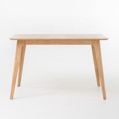 Yolanda 5 Piece Wood Dining Set Table Finish: Natural Walnut, Chair Finish: Light Beige
