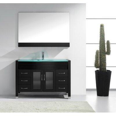 """Cartagena 48"""" Single Bathroom Vanity Set with Mirror"""