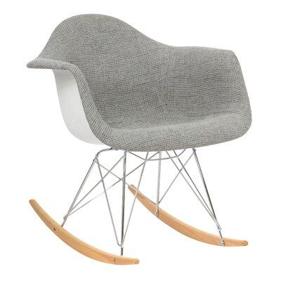 Arturo Rocking Chair Color: Gray