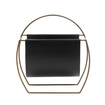 Torito Magazine Rack Color: Black