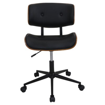 Cambarville Mid-Back Desk Office Chair Color: Black