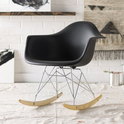 Mohammad Rocking Chair Frame Color: Black