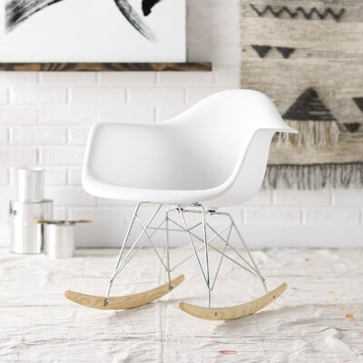 Mohammad Rocking Chair Frame Color: White