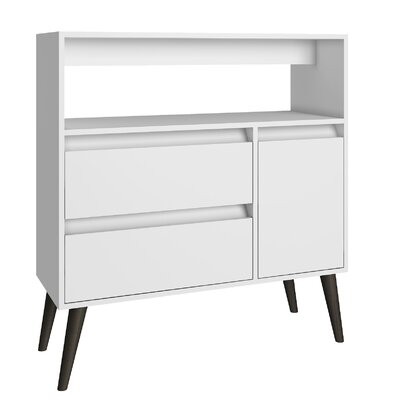 Carneal Console Table Color: White