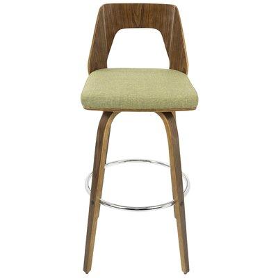 """Emory 30"""" Swivel Bar Stool Upholstery: Green"""