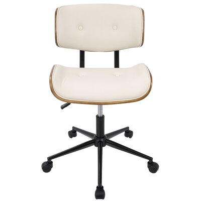 Cambarville Mid-Back Desk Office Chair Color: Cream