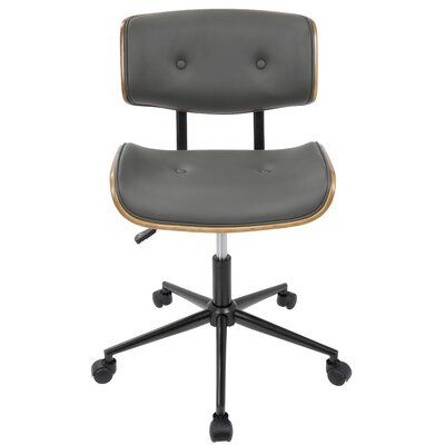 Cambarville Mid-Back Desk Office Chair Color: Gray