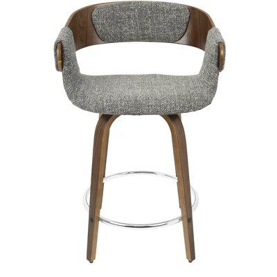 "Lexie 23.75"" Bar Stool Upholstery: Gray"