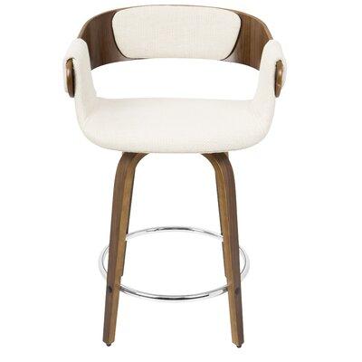 """Lexie 23.75"""" Bar Stool Upholstery: Cream"""