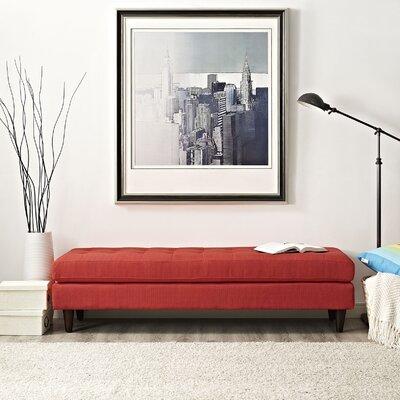 "Warren Bench Color: Sunny, Size: 17.5"" H x 71"" W x 19.5"" D"