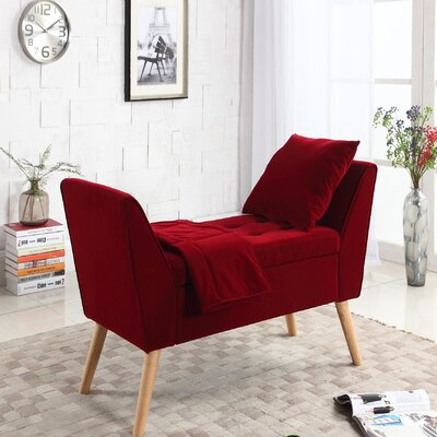 Smith 3 Piece Upholstered Storage Bench Set Upholstery: Red