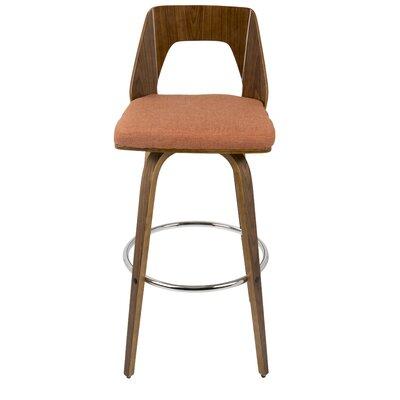"""Emory 30"""" Swivel Bar Stool Upholstery: Orange"""
