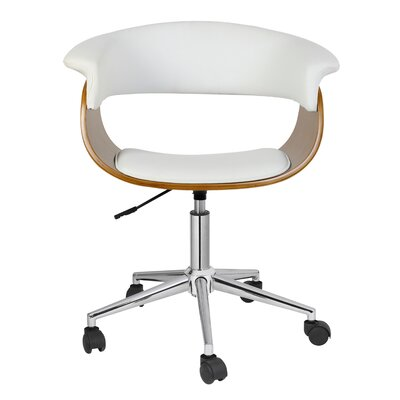 Sweetwater Desk Chair Upholstery: White