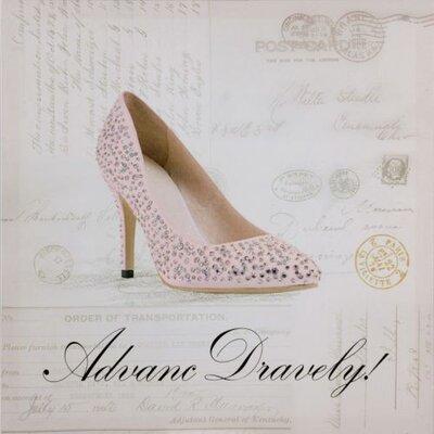 Dekoria Diamond Shoe I Graphic Art on Canvas