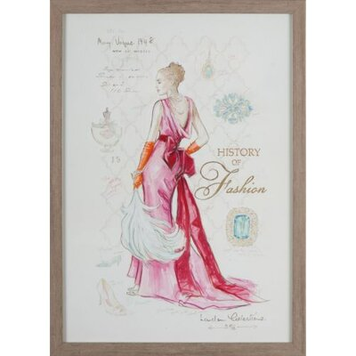 Dekoria History Of Fashion Framed Graphic Art