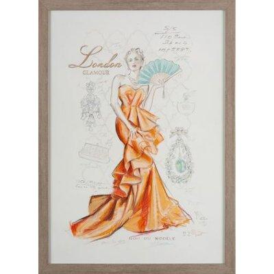 Dekoria London Glamour Framed Graphic Art