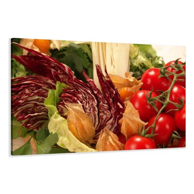 Urban Designs Vegetables Photographic Print Wrapped on Canvas