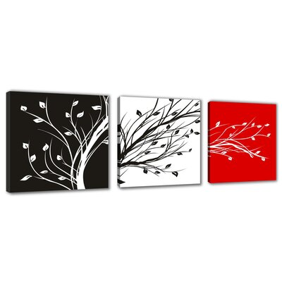 Urban Designs Twigs 3 Piece Graphic Art Wrapped on Canvas Set