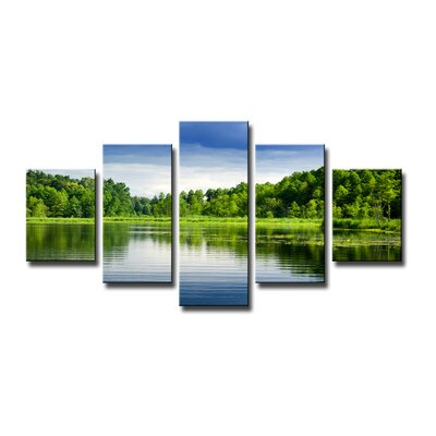 Urban Designs Nature Lakefive Pieces 5 Piece Photographic Print Wrapped on Canvas Set