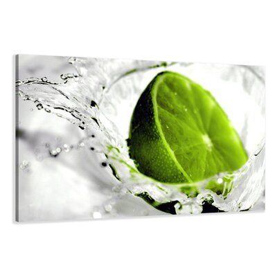 Urban Designs Lime Lemon Photographic Print Wrapped on Canvas