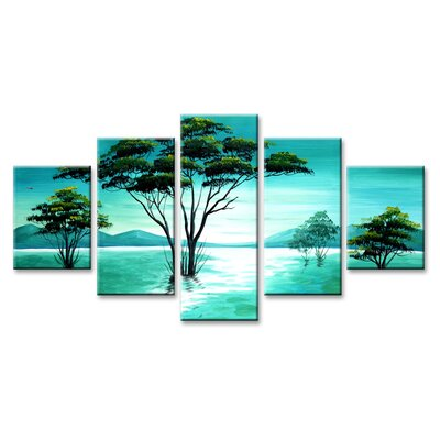 Urban Designs Trees 5 Piece Photographic Print on Canvas Set