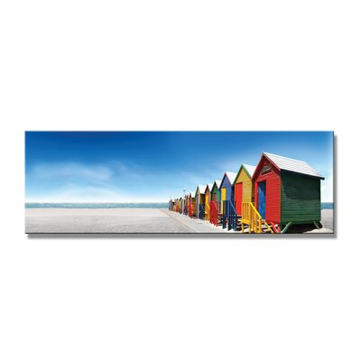 Urban Designs Beach Colorful Houses Photographic Print on Canvas